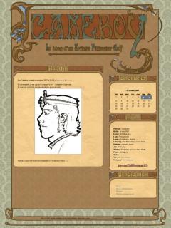 cakeboy, un blog avec graphisme art nouveau