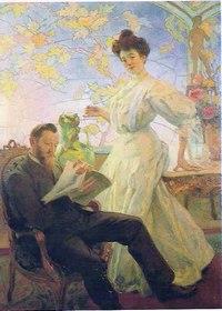 Portrait de M. et Mme Corbin - © Musée de l'Ecole de Nancy