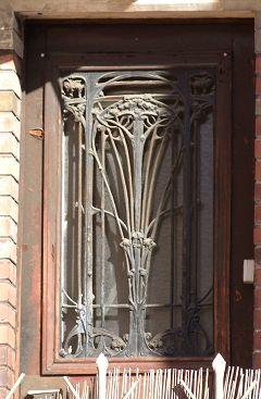 ferronnerie Art nouveau, quartier La Mouzaia