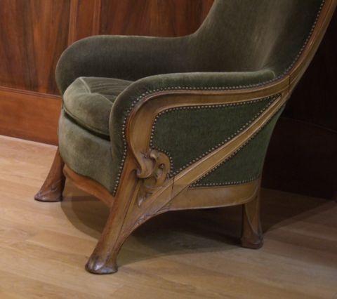 hector guimard, petit palais, détail d'un fauteuil